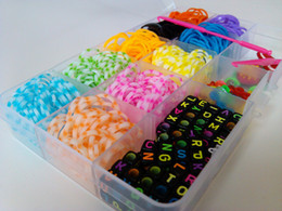 Wholesale Rainbow Loom Multicolor rubber band Alphabet Beads Specifications mm Acrylic Beads loom kit