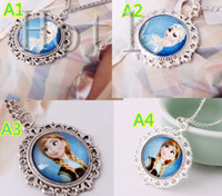 Pendant Necklaces Children's Alloy DHL free shipping Frozen Necklace Frozen Ball Chain Necklace for Girl Kids Jewelry Decoration
