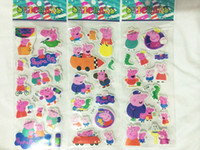 Cheap Cartoon Peppa pig sticker party decoration classic toys for children baby toys 2014 new popular items 100pcs lot