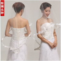 Ombre Color Curly Synthetic hair New wedding dress lace veil stretch satin gloves net veil stays three-piece 35 yuan Recommended