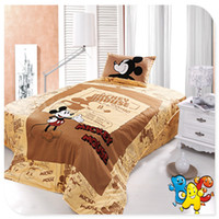 Wholesale Hot Mickey Mouse Bedding Kids Bedding Set Single Full Double Size Cotton Mickey Mouse Bed Linen for Children