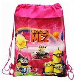 Wholesale New Frozen drawstring bags Anna Elsa Despicable Me monster university backpacks handbags children s school bags kids shopping bags present