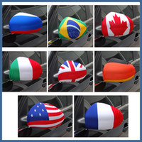 Wholesale 2014 National Flag Design Pieces twin mirror Car Rearview Mirrors Covers Mirror Sox Mirror Flag