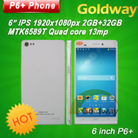 Quad Core Android 2G Star Ulefone P6 Quad Core 6.0 Inch Mobile Phone 2GB RAM 32GB ROM 13.0Mp Mtk6589t 1.5GHz Android 4.2 NFC 3G Dual SIM