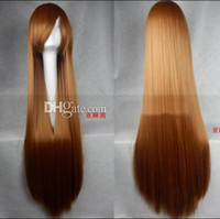 Cheap New Design 100CM Long Straight Hair Wig Cosplay Party Fashion Cheap Wig