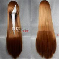 Cheap Hot Fashion 100CM Long Straight Hair Wig Cosplay Party Fashion Cheap Wig