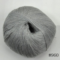 Yes new colorful Wholesale Worsted 100%Cashmere Cotton Silk Knitting Yarn Sweater Silk wool cashmere warm soft yarn Knitting(#960)