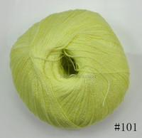 Yes new colorful Wholesale Worsted 100%Cashmere Cotton Silk Knitting Yarn Sweater Silk wool cashmere warm soft yarn Knitting(101)