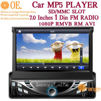 No Black ABS 7 inch tablet 1080P Full HD LCD Monitor RMVB RM Diskless Car MP5 Player with Bluetooth Freehand Phone Call Car Radio Station