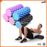 Wholesale SGS approved EVA Rumble roller for Yoga Pilates exercise Deep Tissue Massage for aching muscles joint pain w colors