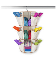 Wholesale 1PC Yellow Practicable Pocket Hanging Bag Door Holder Shoe Storage Organizer Closet Hanger Organiser