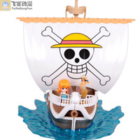Multicolor PVC Key wholesale two years later PVC one piece figure pirate ship for sale free-shipping