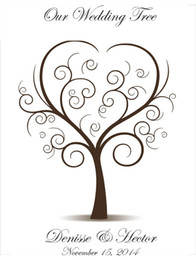 Wholesale Wedding Decoration Customized Wedding Fingerprint Tree Guest book Wedding guest book