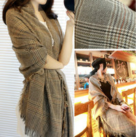 knitted cashmere scarf - British Style Imitation Cashmere Scarf Shawl Knitting Autumn Neck Scarves Wraps Lady Shawl Scarf SK131