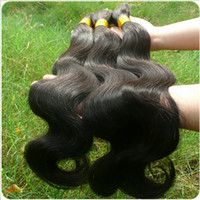 Wholesale unprocessed virgin brazilian body bulk braiding hair extension100 remy human hair weave extension