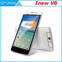Wholesale iNew V8 MTK6591 android cell Phones Hexa Core Android Inch real MP Free Rotation Camera X720 GB RAM GB NFC free case
