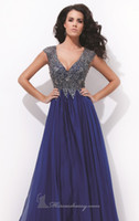 Cheap Reference Images 2014 Party Dresses Best V-Neck Chiffon Party Dresses