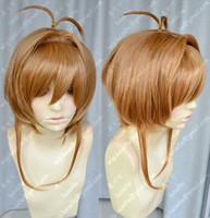 auburn Short Boy Sakura Kinomoto temple leghten cheap cosplay wigs auburn maid cartoon costume accessories