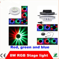 Wholesale Rotating Mini W LED Mini Auto Voice activated Rotating Party Lighting Sunflower LED Lights RGB Disco DJ KTV Stage Lidht CE RoHS