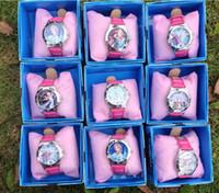 Wholesale Retail New Children Cartoon Frozen girl Cartoon Child clock watch Wristwatches Baby frozen watches with colorful boxes botaigroup