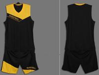 Basketball basketball jersey uniform - 2014 Custom Basketball Jerseys Mens Black Sports Shirt Short Uniform Sets Adult s Sportwears SZ XL XL able mix any size color
