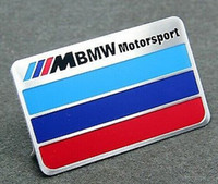 Cheap Metal Auto Car Decals Badge Emblems Stickers for M Motor sport Racing Blue Red