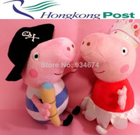 Unisex 13-24 Months Anime & Comics 2013 soft plush, peppa pig toys peppa pig plush princess & pirate 2pcs set free shipping hot sales