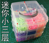 8-11 Years loom band - 2set Rainbow rubber bands rainbow looms kit loom Box rubber band kit Knit the Beautiful Storage Set Box