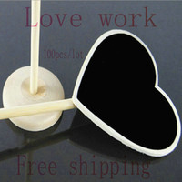 April Fool's Day Event & Party Supplies,Other Festive & P Yes 100 pcs lot Heart Mini Chalkboard Blackboard on stick Place holder Table Number For Wedding Party Decoration Free Shipping