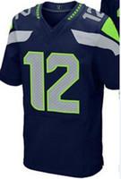 Wholesale - 2014 #12 Mens Elite Jerseys Football Jerseys Bra...