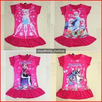 TuTu Summer A-Line 9 Designs Kids Frozen Elsa Dress Cartoon Fairy Short Sleeve Skirt Children Clothes Frozen Costume Korean Children Clothing Red Baby Dress