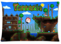 Wholesale ARPG Game series Terraria printed design Custom Rectangle Pillow Case quot x24 quot quot x30 quot TR01