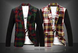 Wholesale Fashion grid stitching X966 man leisure suit jacket