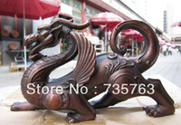 Wholesale xiuli Chinese Pure Red Bronze Copper Fengshui Refined Fly beast Foo Dog Lion statue