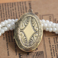Wholesale DIY Necklace Jewelry Accessories mm Oval PHOTO LOCKET Blank for Necklace Pendant Charm
