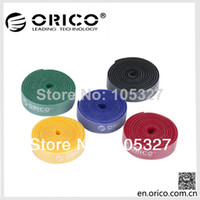 Wholesale Mix Min order ORICO Red Velcro Plastic NYLON CABLE Mark TIES Label Brand Belting Ribbon WIRE BINDING Strap Seals M