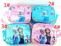 Wholesale FROZEN Children s Lunch bag Ice Bag Diagonal Shoulder Bag Lunch hot sell drop ship asap