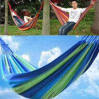 Cotten new Outdoor Furniture New Portable Cotton Rope Outdoor Swing Fabric Camping Hanging Hammock Canvas Bed