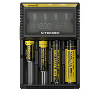 No Black  Cheap free Nitecore D4 Intelligent 18650 battery charger hot sell ego cigarette battery charger for 18650 battery MOQ 3PCS