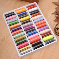 Wholesale New Hot Promotion Yard Mixed Colors Polyester Spool Sewing Thread For Hand Machine ZH009