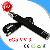 1300mAh Adjustable China Mega eGo VV 3 Variable Voltage 1300mAh Electronic Cigarette ego v v3 battery variable voltage battery 1300mah ego VV VW battery