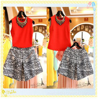 ladies skirt suits - Summer Ladies Hot Sale Women Suits Latest Sleeveless Rhinestone Diamond Necklace T shirt Ink Umbrella Skirt Two Pieces Female Ouifits