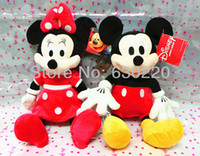 mickey mouse plush toy - New Design Mickey Mouse Minnie Plush Toy sets Pink Red Cute Minnie Mickey Plush Stuffed Toys cm In stock