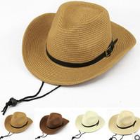 Wholesale Man hat folding beach sun hat cowboy hat the sun hat