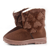 Snow Boots fluffy boot - 2014 High quality Women fashion winter snow boots Factory outlets love fluffy boots TX65