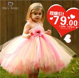 Cheap Desginer Flower Girl Dresses Colorful Ball Gown Knee Length Flower Girl Dresses Tulle Communion Dresses Girls Formal Occasion Dress