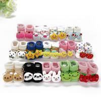 Wholesale Kids Baby Unisex Newborn Animal Cartoon Socks Cotton Shoes Booties M bulk order high qualtity mix order