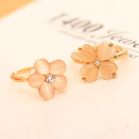 Wholesale Fashion Rings Cat s Eyes Flower Rings Adjustable Party Jewelry Women Rings