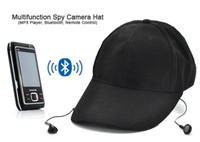 Wholesale Bluetooth SPY Hat Cap Mini Hidden Camera DVR Camcorder with Mp3 Function