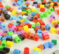 Wholesale 100pcs mm Mini Cylinder Pastel Multi Perler Beads Craft Spacer Hama Beads Kids DIY Beads Educational